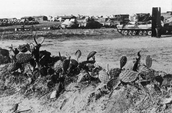 Po dotarciu do Palestyny 2. Korpusu problemem stały się dezercje starozakonnych żołnierzy. Dowództwo nie miało jednak zamiaru ich ścigać. Na zdjęciu 6. Pułk Pancerny Dzieci Lwowskich w Palestynie (źródło: materiały prasowe wydawnictwa Znak Horyzont).