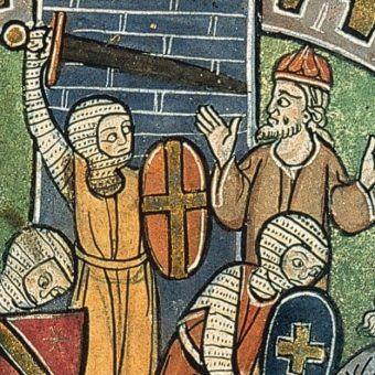 Miniatura przedstawia fragment oblężenia Antiochii (autor: Saint Jean d'Acre, domena publiczna).