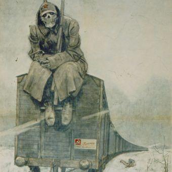 Czy Sowicie deportowali na wschód naprawdę ponad półtora miliona Polaków? Na ilustracji włoski plakat propagandowy (źródło: domena publiczna).