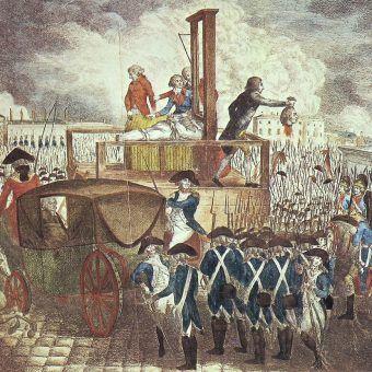 Egzekucja Ludwika XVI na na rysunku Georga Heinricha Sievekinga (źródło: domena publiczna). Ile takich egzekucji naprawdę przeprowadzono w czasie rewolucji?