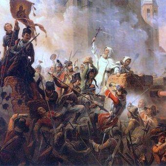 Wizja oblężenia Częstochowy według Januarego Suchodolskiego niewiele miała wspólnego z rzeczywistością.... (domena publiczna).