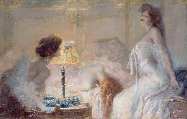"""Morfina początkowo uznawana była za """"cudowny lek"""". Jednak szybko stała się prawdziwą plagą. Na ilustracji obraz Alberta Matignona """"Morfina"""" (źródło: domena publiczna)."""