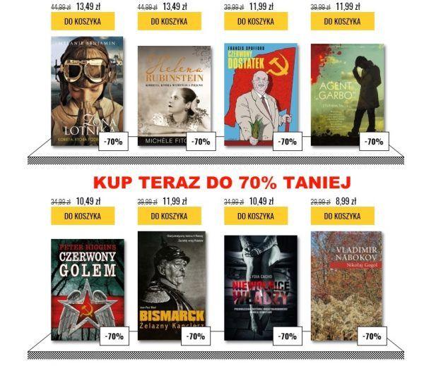 Wybieraj wśród tysięcy tytułów przecenionych nawet o 70%!