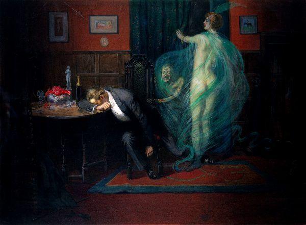 Syfilis, obrazowo przedstawiony na obrazie Richarda Coopera, rzadko był przyjmowany z zadowoleniem. Niektórzy artyści traktowali go jednak... jako źródło dodatkowych doznań (fot. Wellcome Images , lic. CC BY 4.0).