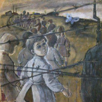 Opisywanie rzeczywistości obozów koncentracyjnych to zagłębianie się w zupełnie obcy, okrutny świat. Co jeszcze może nas zaskoczyć? (obraz Spiridon Manoliu, źródło: domena publiczna).