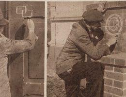 Złodzieje nie zawsze porozumiewali się za pośrednictwem tajemniczych znaków... (Światowid, 1929).