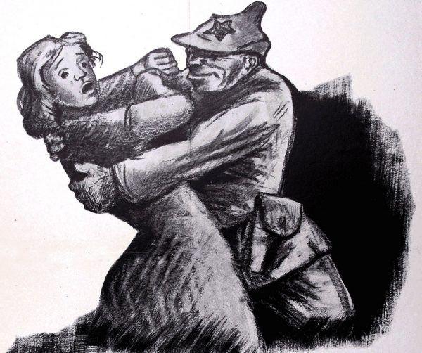 Powszechny stał się stereotyp czerwonoarmistów jako gwałcicieli, złodziei i morderców.