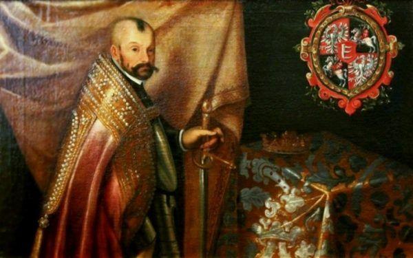 Pasję do polowania Batory zachował do końca życia, nawet jako król Polski. Na obrazie widzimy go w stroju koronacyjnym.
