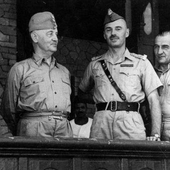 Na zdjęciu gen. Władysław Sikorski, gen. Władysław Anders oraz gen. Tadeusz Klimecki.