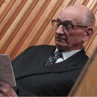 Władysław Bartoszewski w Polskim PEN Clubie, 2005.