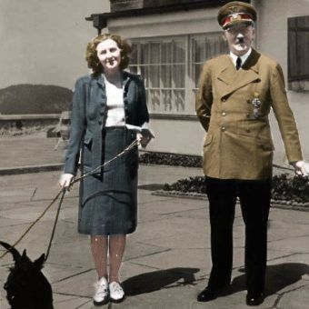 """Czy Ewa Braun na pewno była wierna swojemu Adolfowi? Fotografia pochodzi z książki ,,Czekoladowy tort z Hitlerem"""" (Bellona 2017)"""