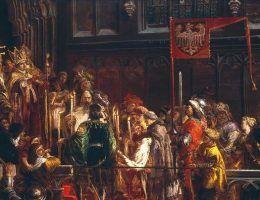 """Obraz Matejki """"Chrzest Warneńczyka"""" jest mało znany, a szkoda, bo wiąże się z nim fascynująca historia."""