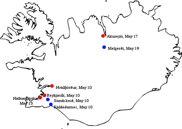 Cele brytyjskie inwazji na Islandię z 10 maja 1940 roku.