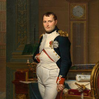 Napoleon na portrecie Jacquesa-Louisa Davida.
