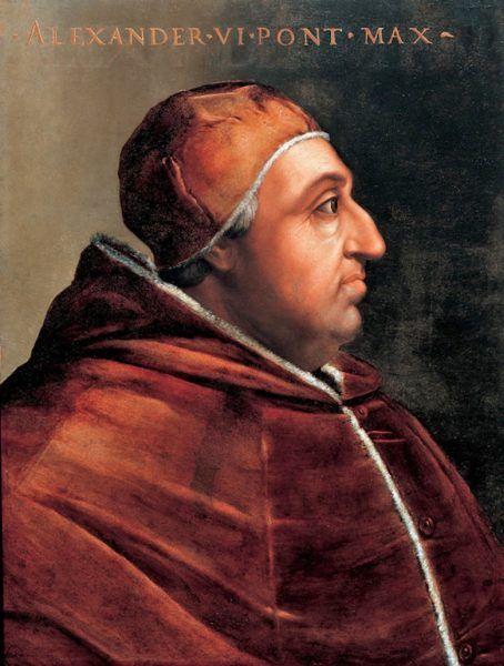 Prawdziwym symbolem upadku papiestwa jest Aleksander VI Borgia, który miał aż pięcioro dzieci.