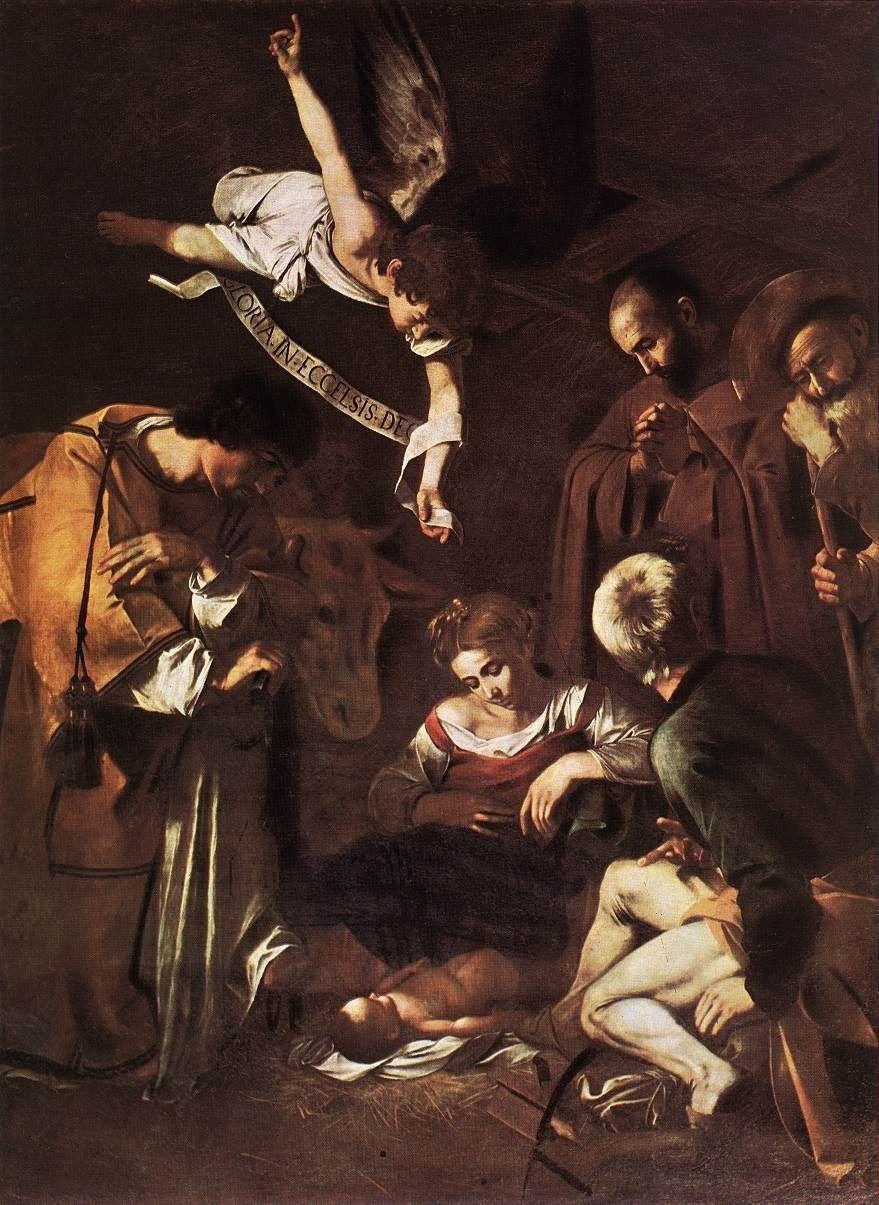 Boże Narodzenie ze świętymi Wawrzyńcem i Franciszkiem. Reprodukcja słynnego obrazu.
