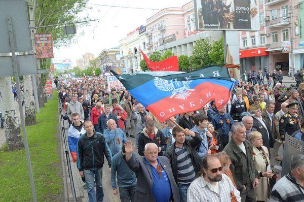 Wojnie w Donbasie towarzyszą prorosyjskie demonstracje,