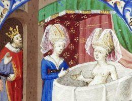 Tak w kąpieli wyglądała bliska krewna naszej królowej Jadwigi, królowa Neapolu Joanna.