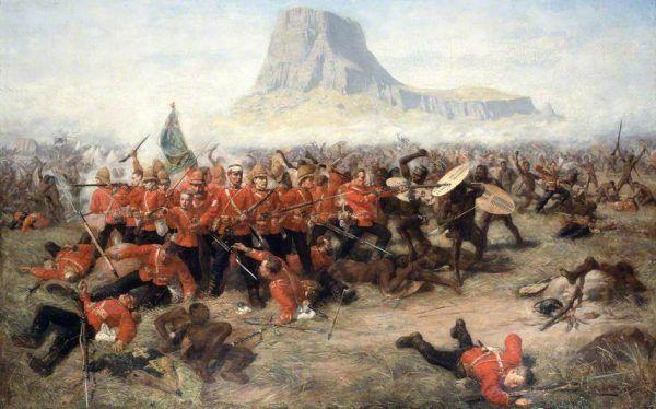 Bitwa pod Isandlwana na obrazie Charlesa Edwina Frippa.