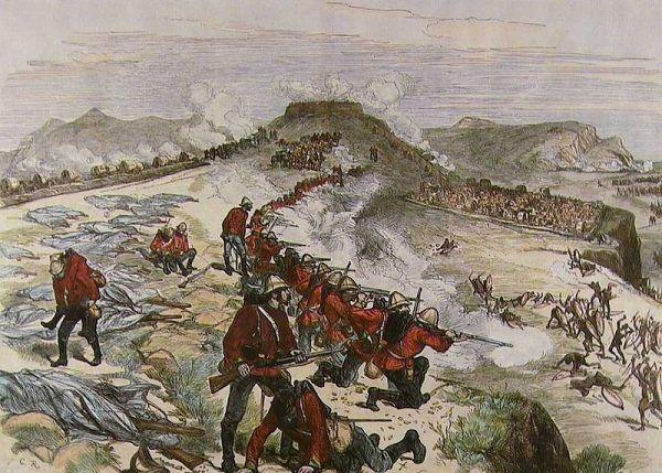 Bitwa pod Kambulą na rysunku Meltona Priora.