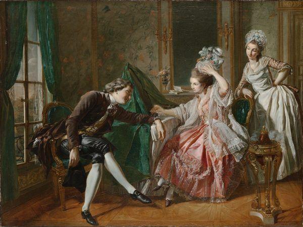 Tajemnicza Henrietta była największą miłością Casanovy. Na obrazie François Bouchera scena rokokowego flirtu.