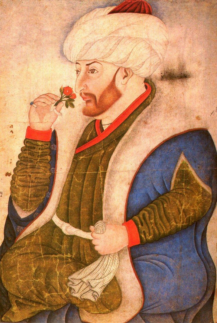 Mehmed może i zdobył Konstantynopol, ale przełknąć porażkę z Drakulą. Na ilustracji wizerunek sułtana autorstwa Sinan Beja.