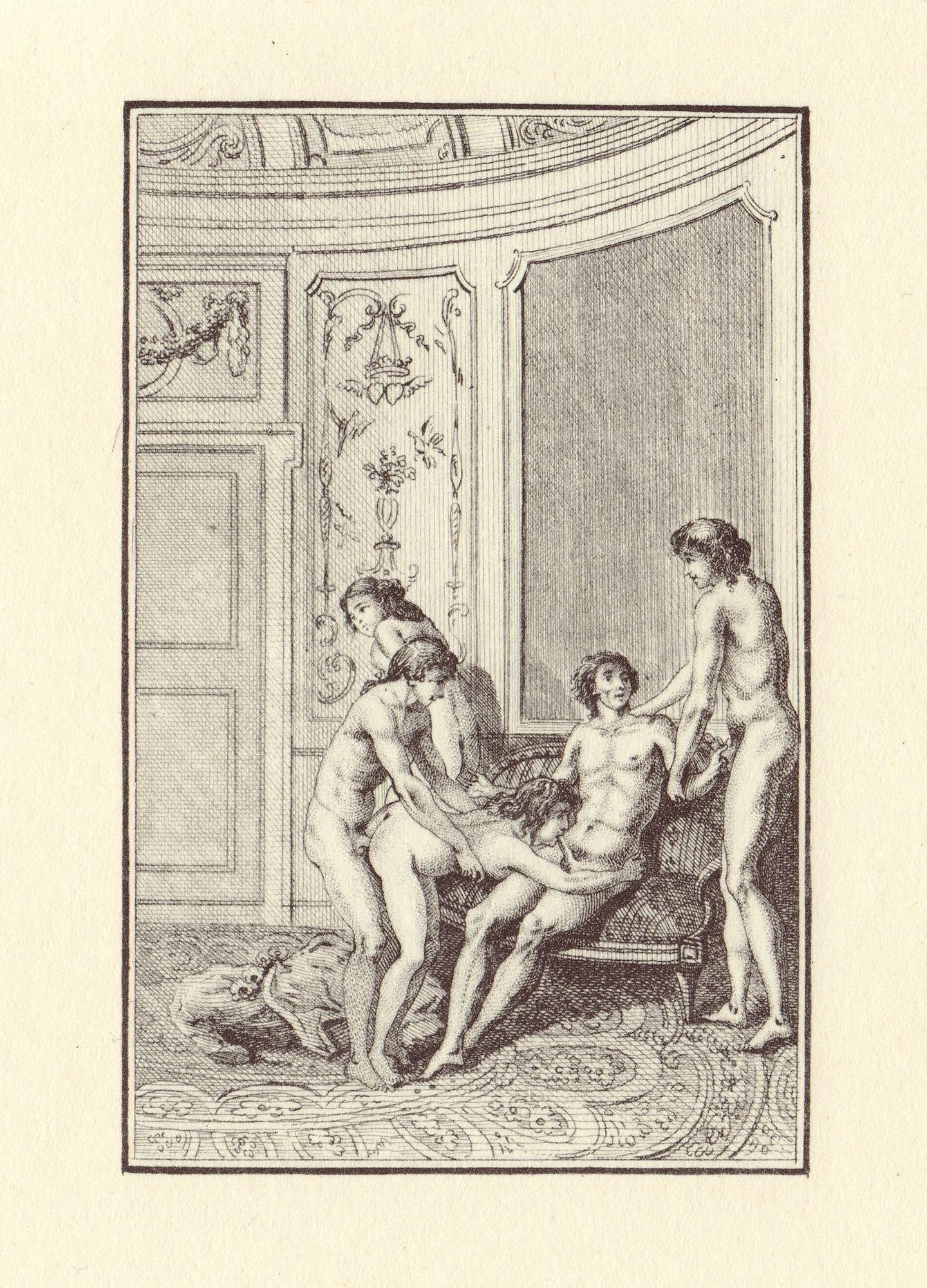 """W pałacowych komnatach i klasztornych refektarzach libertyni urządzali orgie – nierzadko bardzo brutalne. Na zdjęciu ilustracja do książki markiza de Sade pod tytułem """"Justyna czyli niedole cnoty"""" z 1797 roku."""