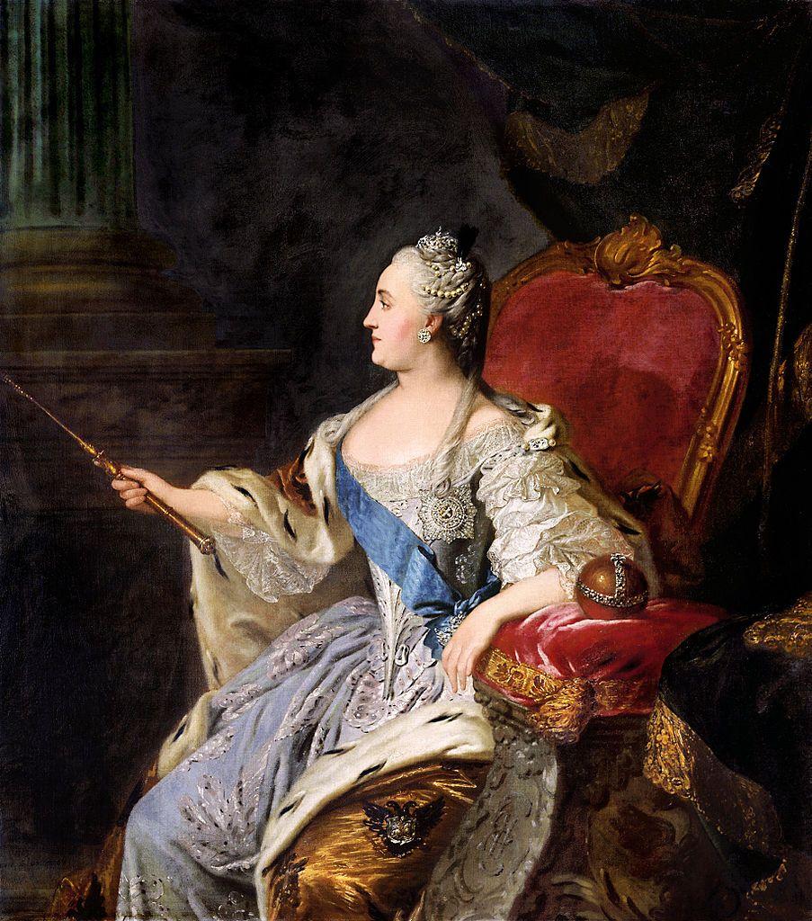 Czy Katarzyna Wielka była kochanką Casanovy? Caryca na portrecie Fiodora Rokotowa.