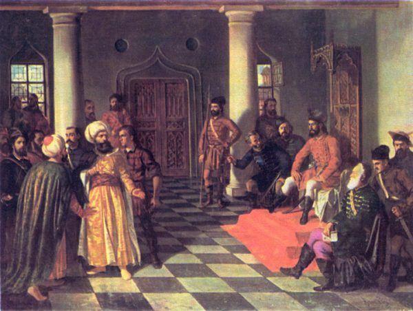 Wysłany do Drakuli jako turecki poseł grecki dygnitarz nie spodziewał się, że będzie to jego ostatnia misja. Obraz Theodora Amana.