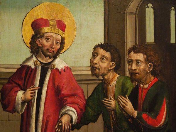 Święty Wacław uwalniający więźniów.