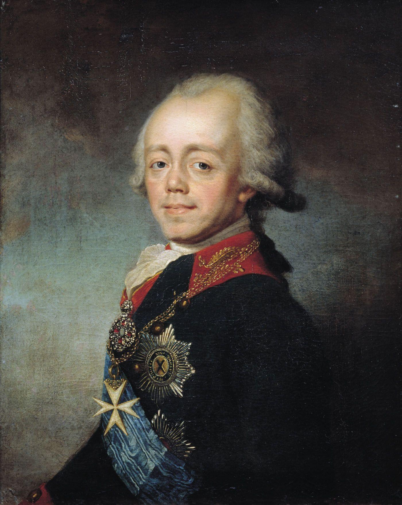 Portret Pawła I Romanowa autorstwa Stepana Szczukina.