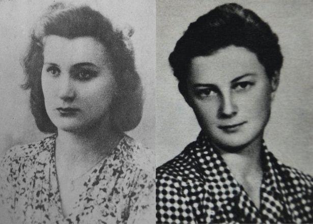 Zofia Kasperska (z lewej) i Teresa Wilska (z prawej).