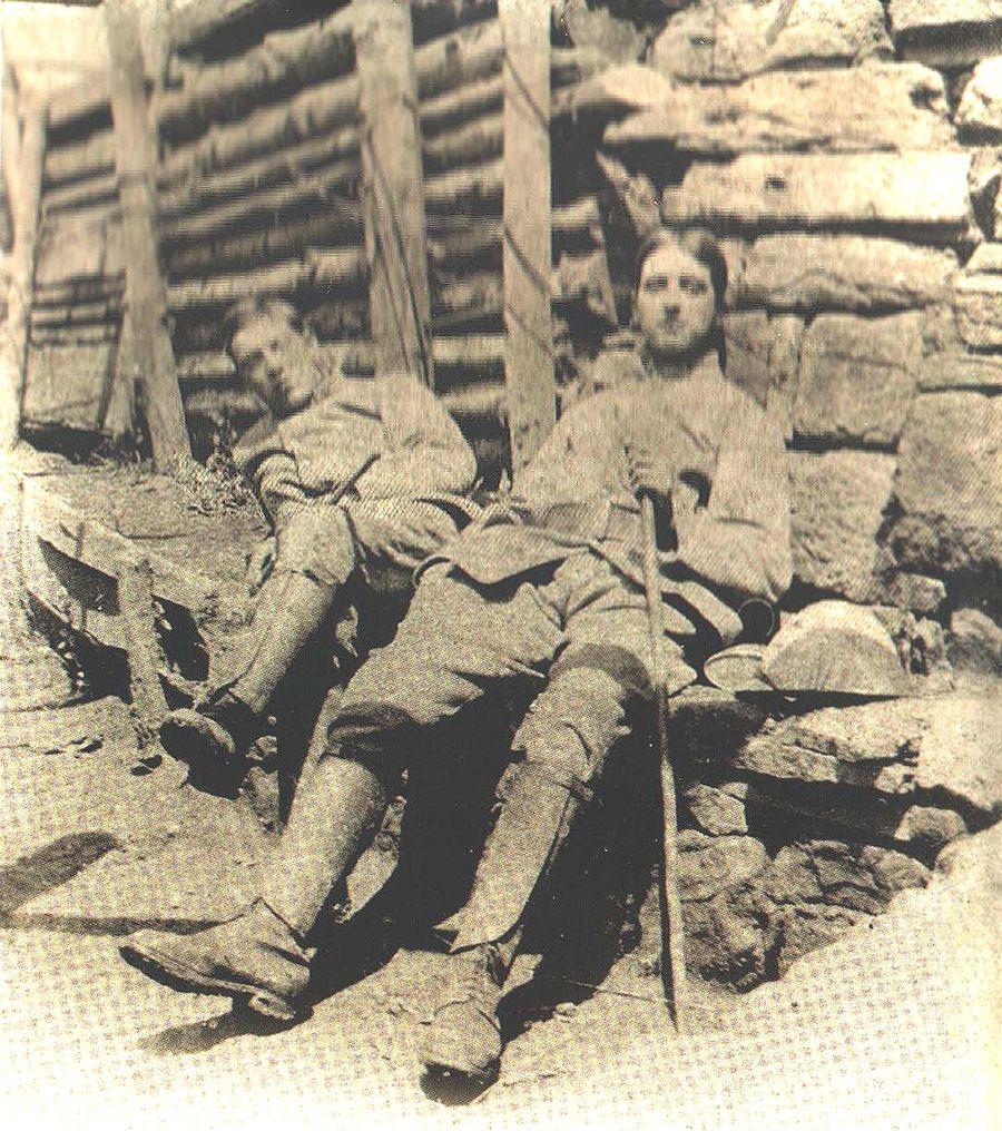 Gabriel Chevallier w czasie swojej służby wojskowej.