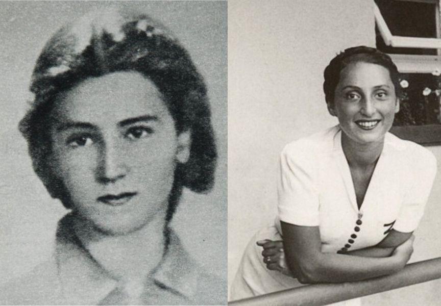 Teresa Bogusławska (z lewej) i Zuzanna Ginczanka (z prawej). Zdjęcie Ginczanki z ok. 1938 r.