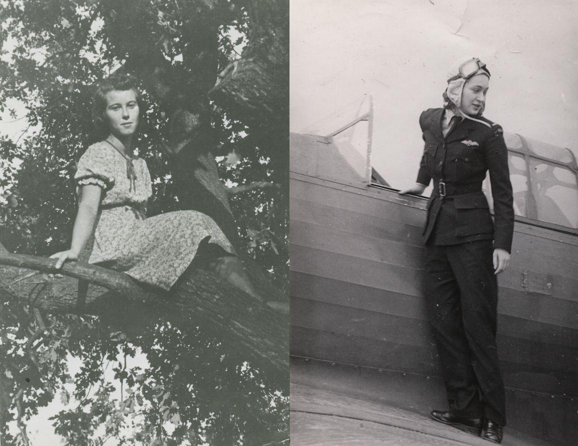 """Halina Chlistunow (z lewej) i Jadwiga Piłsudska (z prawej). Fotografie pochodzą z książki """"Dziewczyny wojenne"""" (Znak Horyzont 2017)."""