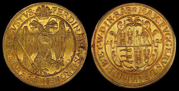 W XVII wieku Fuggerowie będą nawet bić własne, złote monety.