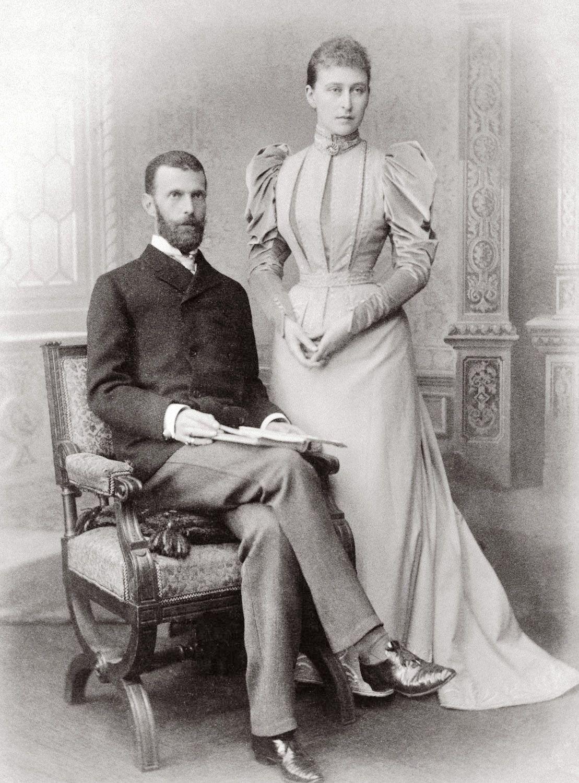Elżbieta Fiodorowna z mężem Siergiejem Aleksandrowiczem, 1893 r.