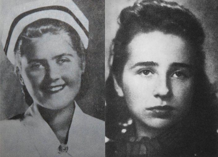 Zofia Jarkowska-Krauze (z lewej) i Janina Trojanowska-Zborowska (z prawej).