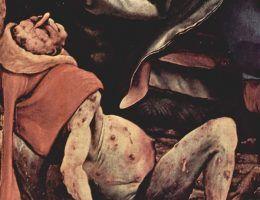 Obraz Matthiasa Grünewalda. Tak właśnie wyglądali cierpiący na Ogień Świętego Antoniego.