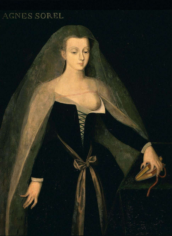 """Philippe Comairas, """"Agnès Sorel, dame de Beauté"""", 1834 r."""