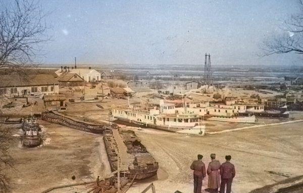 Port w Czarnobylu na początku lat 30. Bardzo podobnie wyglądał w 1920 roku.