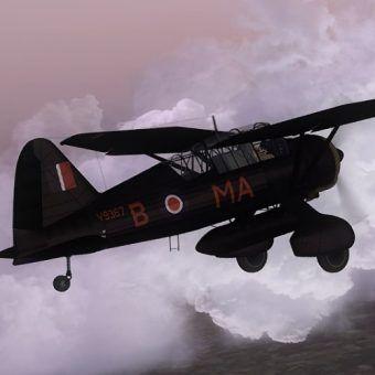 Westland Lysander. Model samolotu z gry Microsoft Flight Simulator X.