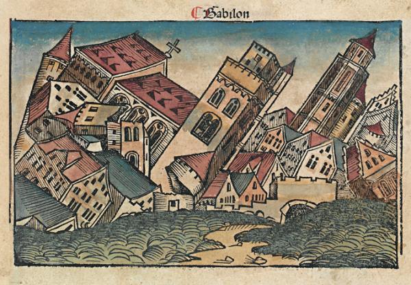 Czyżby uwieczniony na jednym z drzeworytów Kroniki Norymberskiej (XV w.) upadek Babilonu był karą za nadmierne rozpasanie seksualne?