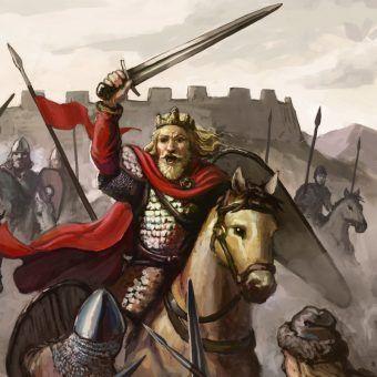 W czasie swych rządów Chrobry stworzył prawdziwe mocarstwo. Powyżej Chrobry na rysunku Kamila Jadczaka.