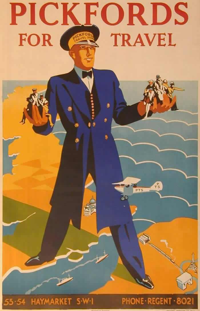 Przedwojenny plakat brytyjskiej linii lotniczej. Równie dobrze mogłaby się nim posługiwać SOE w samym środku wojny...