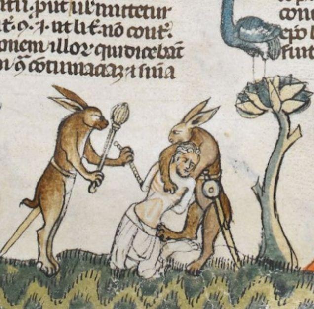 """Chodź, upolujemy człowieka. """"Dekretały ze Smithfield"""", Francja, XIII/XIV w."""