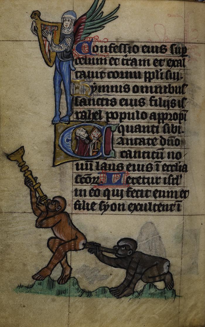 Muzyka bez granic. Księga godzinek z Maastricht, Holandia (Liège), XIV wiek.