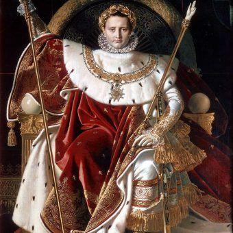 """Chociaż ze względu na swój wzrost Napoleon zyskał przydomek """"Małego Kaprala"""" w rzeczywistości kapralem był wielkim. Na tyle, że obawiając się jego potęgi, w Anglii zawiązano spisek mający obalić francuskiego Cesarza. Na ilustracji obraz pędzla Jeana Augusta Dominiqua Ingresa."""