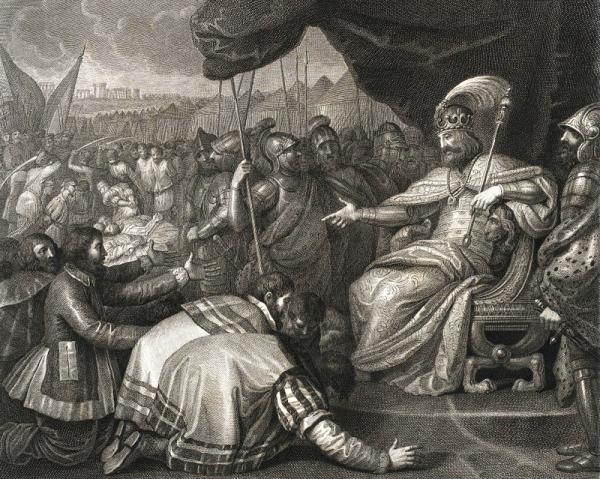 Chociaż niektórzy przypisują mu upadek wielkiego imperium, jakie odziedziczył po ojcu Bolesławie Chrobrym, chyba nie był do końca tak nieudolny. W końcu bunt Pomorzan uśmierzył. I ten właśnie sukces Mieszka II odmalował Angelo Campanella.