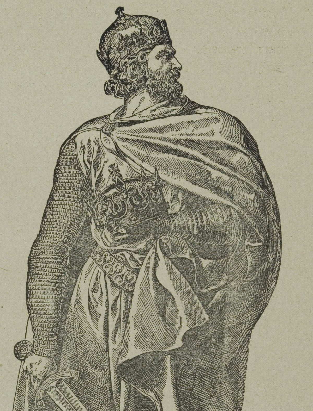 Wizerunek szlachetnego Chrobrego z kroniki Galla Anonima ma niewiele wspólnego z rzeczywistością. Tak naprawdę był on brutalny i gwałtowny. Na ilustracji XIX-wieczne wyobrażenie pierwszego polskiego króla.